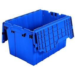 AKROMILS 39120BLUE Attached Lid Container, 1.62 cu ft, Blue