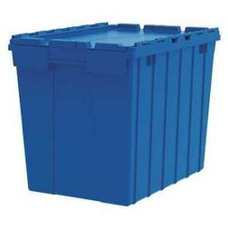 AKROMILS 39170BLUE Attached Lid Container, 2.28 cu ft, Blue