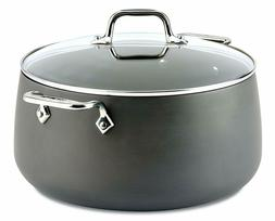 All-Clad 8 Qt Hard Anodized Non Stick Stock Soup Pot with Gl
