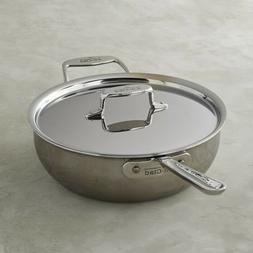 All-Clad D5 Stainless-Steel 5-Ply  4-qt  Essential Pan with