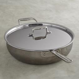 All-Clad d5 Stainless-Steel 6-Qt Essential Pan with lid