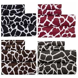 Weavely Animal Print Best Quality Bedding Sheet Set, Extra D