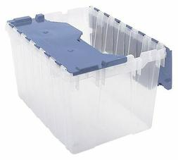 Attached Lid Container,Clear/Blue AKRO-MILS 66486FILEB