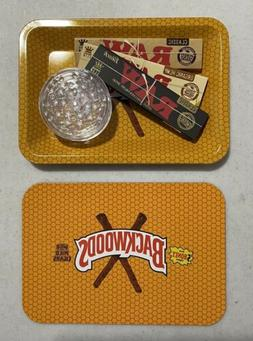 Backwoods Rolling With Lid RAW King Size Papers Grinder Bund