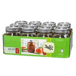 Ball Pint Mason Jars 16 oz Set of 12 With Lid Band Glass Can