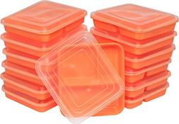 Table To Go 50-Pack Bento Lunch Boxes with Lids  | Microwave