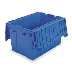 AKRO-MILS 39120BLUE Attached Lid Container, 1.62 cu. ft., Bl