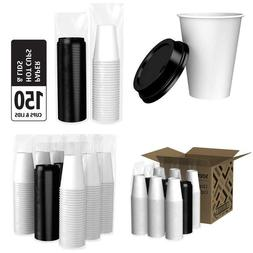 Brand - Solimo 12Oz Paper Hot Cup With Lid, 150 Count