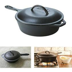 Cast Iron Skillet For Frying Baking Soup LODGE Chicken Fryer
