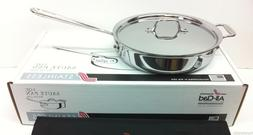 All Clad 3 Quart Stainless Steel Saute Pan With Lid