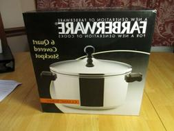 FARBERWARE CLASSIC 6 QT STOCKPOT WITH LID OVEN SAFE NEW IN B