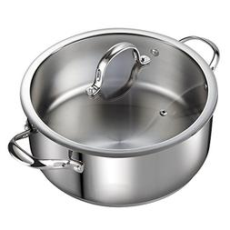 Cooks Standard Classic 7 Qt Stainless Steel Dutch Oven Casse