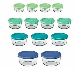 Anchor Hocking 12895ECOM Classic Glass Food Storage Containe