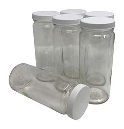 CSBD 16 oz Clear Glass Water Bottle & Juice Bottles With Lid
