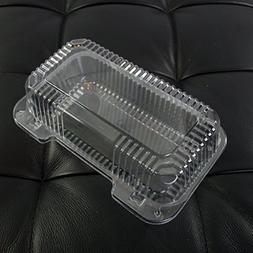 Dart Clear Hinged Lid Plastic Container 9 x 5 3/8 x 3 1/2