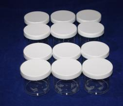 Clear Plastic 4 OZ or 6 OZ PET Empty Containers with lid-HOT