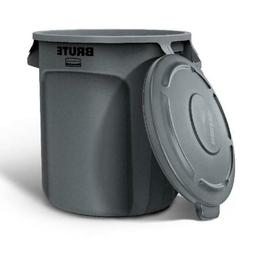 Rubbermaid Commercial Products BRUTE 10-Gallon Gray Plastic