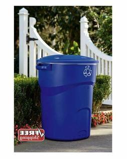 32 Gal. Rubbermaid Commercial Recycling Bin Outdoor Garbage