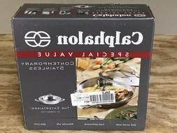 """Calphalon Contemporary Stainless 10"""" every day pan with lid"""