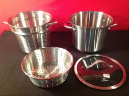 Calphalon Contemporary Stainless 8 Quart Pot with Glass Lid