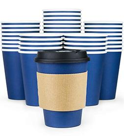 Glowcoast Disposable Coffee Cups With Lids - 12 oz To Go Cof