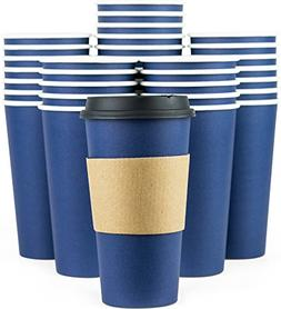 Glowcoast Disposable Coffee Cups With Lids - 20 oz To Go Cof