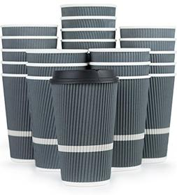 Glowcoast Disposable Coffee Cups With Lids - 16 oz To Go Cof