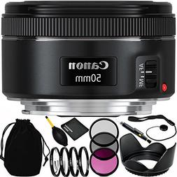 Canon EF 50mm f/1.8 STM Lens Bundle with Accessory Kit  for