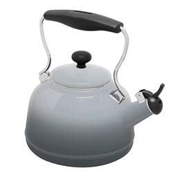Chantal 1.7qt. Enamel-on-Steel Lake Grey Teakettle - Fade Gr
