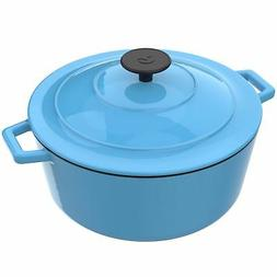 Vremi Enameled Cast Iron Dutch Oven Pot with Lid - 6 Quart C