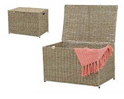 Extra Large Wicker Storage Container with Lid L Basket Bin C