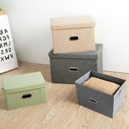 Fabric Storage Bins Basket Closet Foldable Container Home Or