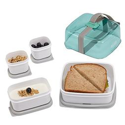 Rubbermaid Fasten + Go Sandwich Kit, Sea Foam Green, 4-Piece