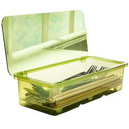 AIYoo Flatware Tray Kitchen Drawer Organizer With Lid And Dr