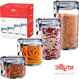 Food Storage containers canister set - Set of 4 Air Tight Ca