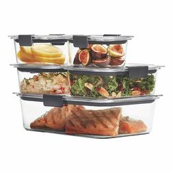 Rubbermaid Food Storage Containers with Airtight Lids, BPA-F