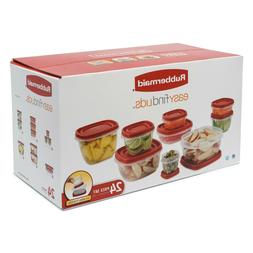 Rubbermaid Food Storage Containers with Easy Find Lids, 24-P
