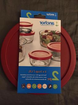 Anchor Hocking 3 x 4cup / 946ml Food Storage Lid 3 pc Red Re