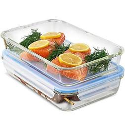 Glass Casserole Dish with Lid - 4-Piece 12 x 8 Inch Freezer-