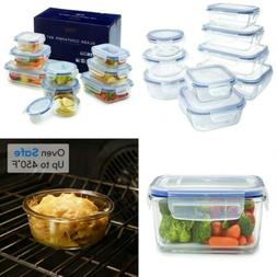 1790 Glass Container 18pc Set w/Locking Lids - Microwave/Ove