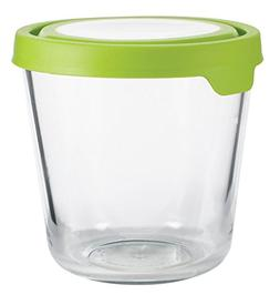 Anchor Hocking Glass Food Storage Container with Red Lid 7 C