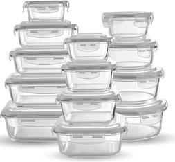 Glass Food Storage Containers  - Meal Prep Leakproof Contain