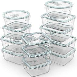 Razab 24 Piece Glass Food Storage Containers w/Airtight Lids