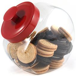 Anchor Hocking Glass Half Gallon Penny Candy Jar with Red Li