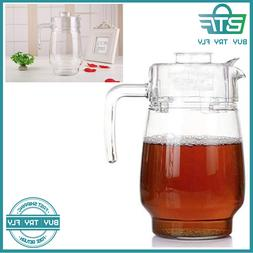 glass pitcher with lid hot cold water