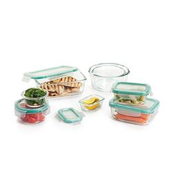 OXO Good Grips 16 Piece Smart Seal Leakproof Glass Food Stor