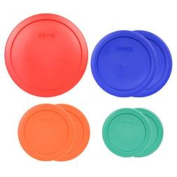 Pyrex 7202-PC Green 7200-PC Orange 7201-PC Blue 7402-PC Red