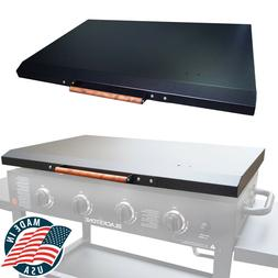 "Hard Cover Lid for Blackstone Griddle 36"" Black with Wooden"