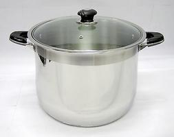 Concord Heavy Duty Stock Pot with Glass Lid and Bonus 10 pie