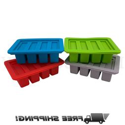 Heavy Duty Silicone Butter Mold Tray with Lid 4 Cavities Rec